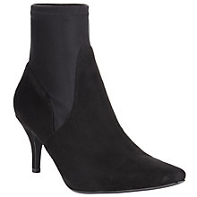 Buy John Lewis Stiletto Stretch Ankle Boots, Black Online at johnlewis.com