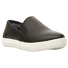 Buy Steve Madden Vicktori Flatform Slip On Trainers, Black Online at johnlewis.com