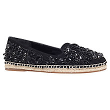 Buy KG by Kurt Geiger Myrtle Embellished Slip On Espadrilles, Black Online at johnlewis.com