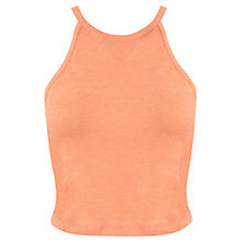 Buy Miss Selfridge 90s Curve Crop Top, Orange Online at johnlewis.com