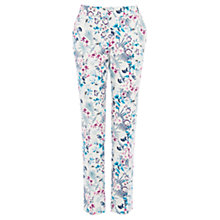 Buy Warehouse Lily Print Ankle Grazer Trousers, Multi Online at johnlewis.com