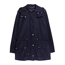 Buy Violeta by Mango Detachable Hood Parka, Navy Online at johnlewis.com