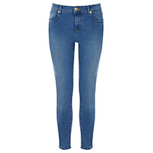 Buy Warehouse Denim Cropped Skinny Jeans, Mid Wash Online at johnlewis.com