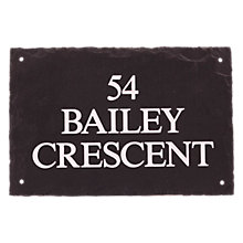 Buy The House Nameplate Company Personalised Rustic Slate House Sign Online at johnlewis.com