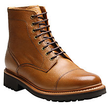 Buy Grenson Joseph Goodyear Welt Leather Lace Up Boots, Tan Online at johnlewis.com