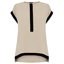Buy Warehouse Boxy Blocked Placket Top Online at johnlewis.com