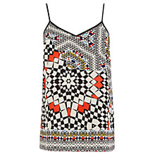 Buy Warehouse V Neck Tile Cami, Multi Online at johnlewis.com