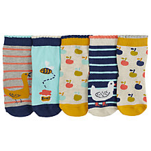 Buy John Lewis Baby Socks, Pack of 5, Multi Online at johnlewis.com