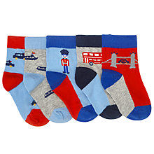 Buy John Lewis Baby London Socks, Pack of 5, Multi Online at johnlewis.com