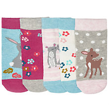 Buy John Lewis Baby Animal Socks, Pack of 5, Blue/Pink Online at johnlewis.com