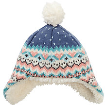 Buy John Lewis Baby's Heart Hat, Multi Online at johnlewis.com