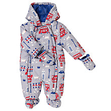 Buy John Lewis Baby's London Snowsuit, Grey Online at johnlewis.com