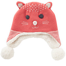 Buy John Lewis Baby's Cat Hat, Pink Online at johnlewis.com