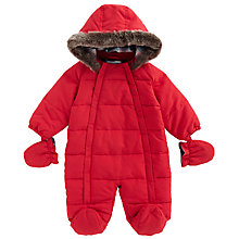 Buy John Lewis Baby's Wadded Snowsuit, Red Online at johnlewis.com