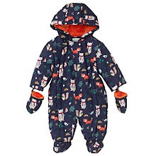 Buy John Lewis Baby's Woodland Snowsuit, Blue/Multi Online at johnlewis.com