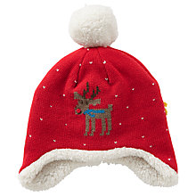 Buy John Lewis Baby's Christmas Hat, Red Online at johnlewis.com
