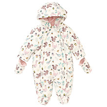 Buy John Lewis Baby's Forest Snowsuit, Cream/Multi Online at johnlewis.com