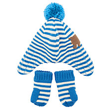 Buy John Lewis Baby's Dog Hat and Mittens Set, Multi Online at johnlewis.com
