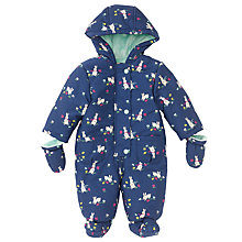 Buy John Lewis Baby's Rabbit Snowsuit, Navy Online at johnlewis.com