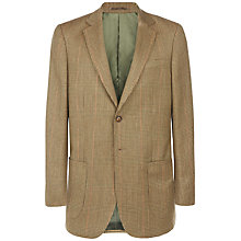Buy Jaeger Tweed Classic Soft Check Blazer, Green Online at johnlewis.com