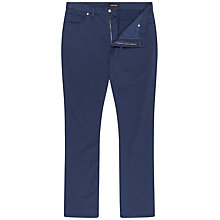 Buy Jaeger Cotton Twill Trousers, Navy Online at johnlewis.com