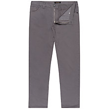 Buy Jaeger Twill Five Pocket Straight Trousers, Steel Online at johnlewis.com