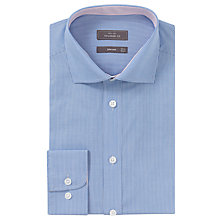 Buy John Lewis Fine Stripe Tailored Shirt, Blue Online at johnlewis.com