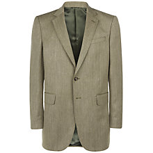 Buy Jaeger Classic Herringbone Jacket, Sage Online at johnlewis.com