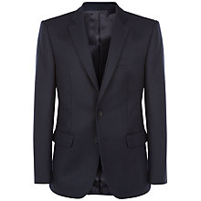 Buy Jaeger Cavalry Twill Wool Blazer, Navy Online at johnlewis.com