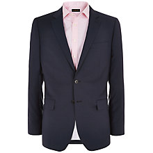 Buy Jaeger Micro Puppytooth Suit Jacket, Navy Online at johnlewis.com