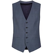 Buy Jaeger Prince of Wales Wool Suit Waistcoat, Chambray Online at johnlewis.com