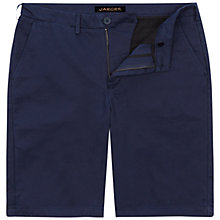 Buy Jaeger Classic Cotton Chino Shorts, Navy Online at johnlewis.com