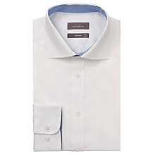 Buy John Lewis Pinpoint Oxford Tailored Shirt, White Online at johnlewis.com