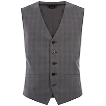Buy Jaeger Cool Wool Check Modern Suit Waistcoat, Grey Online at johnlewis.com