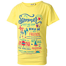 Buy Fat Face Children's Bucket and Spade List T-Shirt, Yellow Online at johnlewis.com