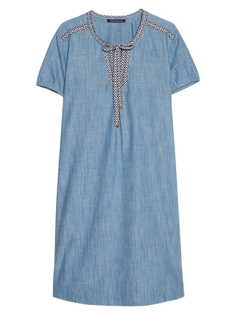violeta by mango trimmed denim dress open blue, violeta, mango, trimmed, denim, dress, open, blue, violeta by mango, 22|18|16|20|14, women, plus size, womens dresses, womens holiday shop, city break, new in clothing, womens jeans & denim, 1941487