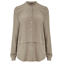 Buy Warehouse Grandad Collar Blouse Online at johnlewis.com