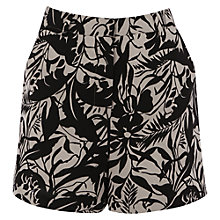 Buy Warehouse Pampas Leaf Shorts, Natural Online at johnlewis.com