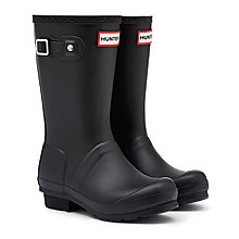 Buy Hunter Children's First Original Wellington Boots, Black Online at johnlewis.com