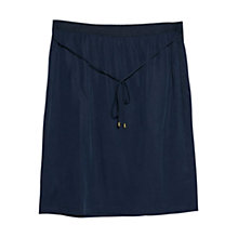 Buy Violeta by Mango Cord Soft Skirt, Dark Blue Online at johnlewis.com