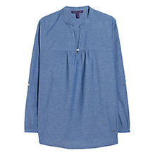 Buy Violeta by Mango Medium Denim Blouse, Open Blue Online at johnlewis.com