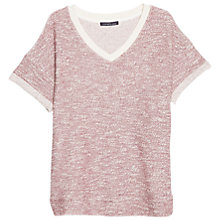 Buy Violeta by Mango Flecked Jumper, Dark Red Online at johnlewis.com