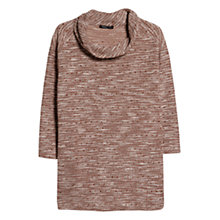 Buy Violeta by Mango Cowl Neck Flecked Jumper, Dusky Pink Online at johnlewis.com