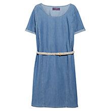 Buy Violeta by Mango Medium Denim Dress, Open Blue Online at johnlewis.com