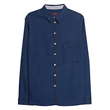 Buy Violeta by Mango Stitched Denim Shirt, Dark Blue Online at johnlewis.com