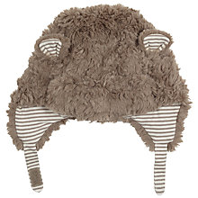 Buy John Lewis Baby' Faux Fur Hat, Brown Online at johnlewis.com