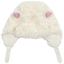 Buy John Lewis Baby's Rosette Faux Fur Hat, Cream Online at johnlewis.com