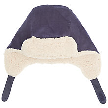 Buy John Lewis Baby's Cord Trapper Hat, Navy Online at johnlewis.com