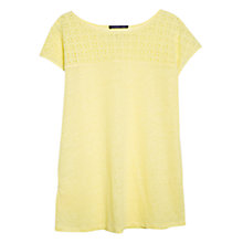 Buy Violeta by Mango Guipure Linen T-Shirt Online at johnlewis.com