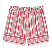 Buy Violeta by Mango Striped Cotton Bermuda Shorts, Bright Red Online at johnlewis.com